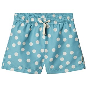 Image of Kuling Strömstad Bade Shorts Dot Charmy Turquoise 110/116 cm (1482381)