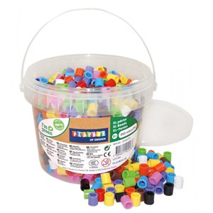 Image of Playbox ECO XL Perler Beads 10-Color Mix Spand 950 dele 3+ years (1590621)