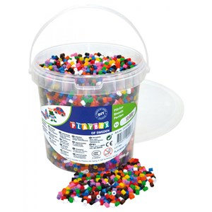 Image of Playbox Perler Beads 10-Color Mix Spand 10000 dele 5+ years (1590616)