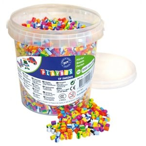 Image of Playbox Perler Beads Stribede Mix Spand 5+ years (1590613)