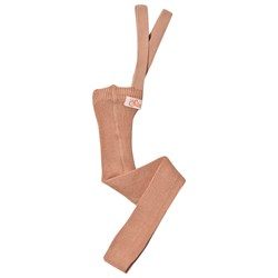 Silly Silas Footless Tights Light Brown Rose