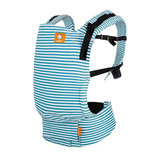 Baby Tula Free-to-Grow Baby Carrier Seaside light blue stripes