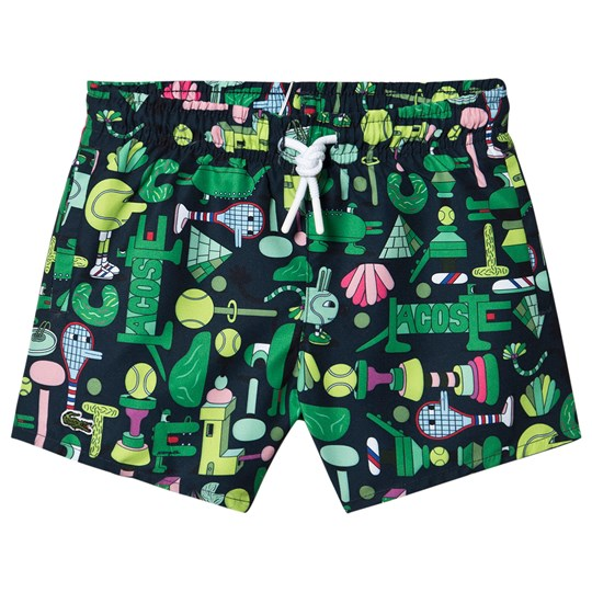 Lacoste Jeremyville x Lacoste Graphic Swim Shorts Green QRN