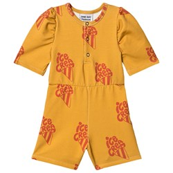 One Day Parade Ice Cream Puffed Romper Yellow