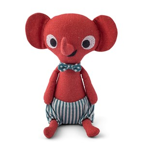 Image of Littlephant Littlephant Linen Doll Red One Size (374771)