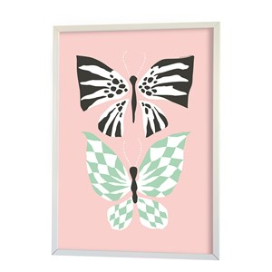 Image of Littlephant Poster, Butterfly Love, Pink One Size (856987)