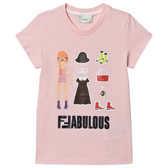 Fendi Sticker Book Tee Pink F16WG
