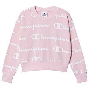Image of Champion Allover Branded Sweatshirt Pink 9-10 years (1504086)