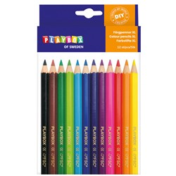 Playbox 12-Pack Chunky Coloring Pencils Multicolor