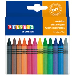 Playbox 12-Pack Wax Crayons Multicolor