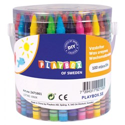 Playbox 100-Pack Wax Crayons Multicolor