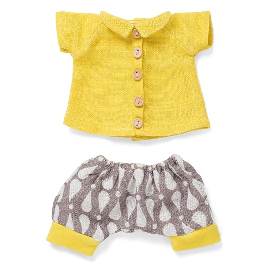 Littlephant Doll Clothes Yellow Drop - Gray/white/yellow