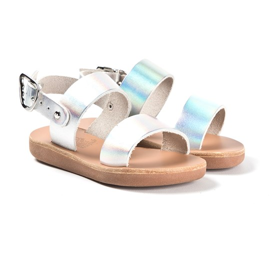 Ancient Greek Sandals Little Clio Sandaler Silverfärgade Iridescent