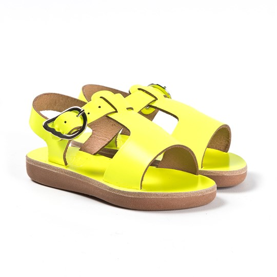 Ancient Greek Sandals Little Adonis Sandals Fluorescent FLUO YELLOW