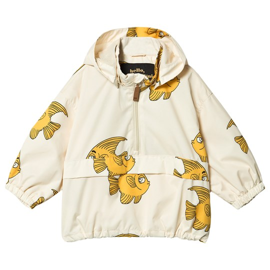 Mini Rodini Fish Anorak Jakke Hvit White