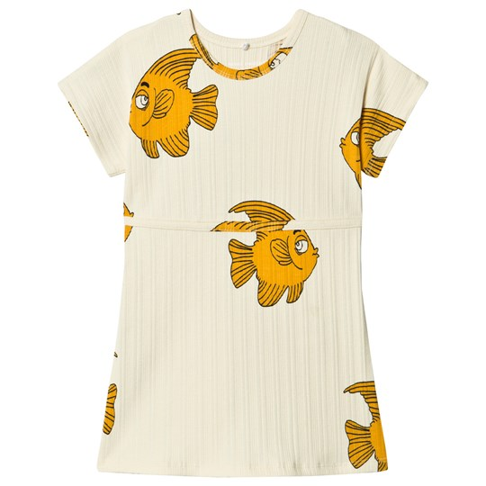Mini Rodini Fish Dress Off-white Offwhite