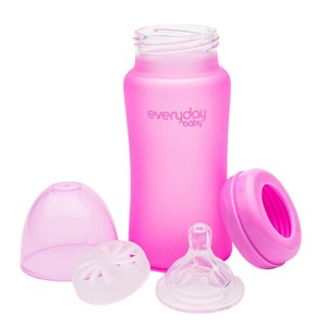 Image of Everyday Baby Heat Sensing 240 ml Sutteflaske Cerise Pink One Size (1596870)