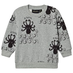 Mini Rodini Octopus Sweatshirt Gray melange