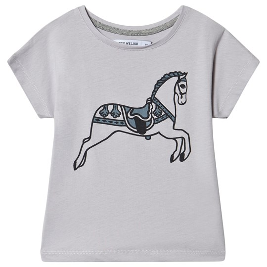 One We Like Horse T-Shirt Lilac Marble Lilac Marble