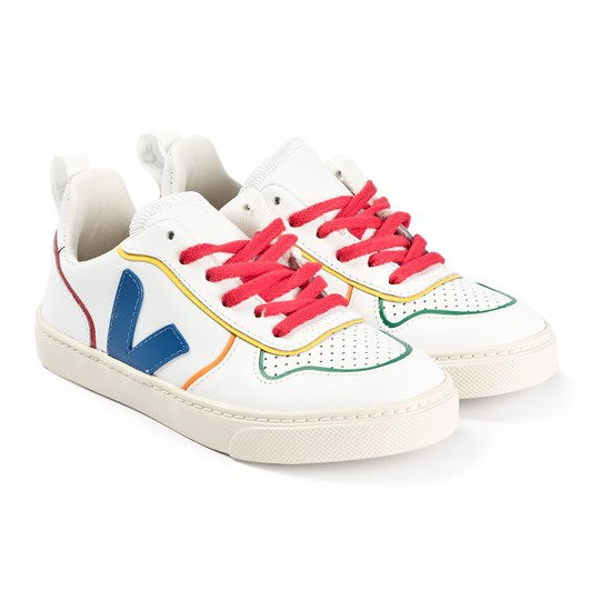 Veja V-10 Lace Leather Sneakers Vita EXTRA-WHITE_MULTICO_COOL