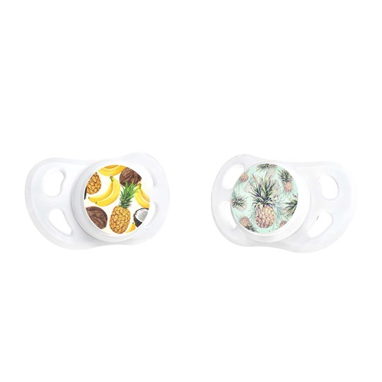 Twistshake 2-Pack 0-6 m Pacifiers Pineapple/Banana Pineapple Banana