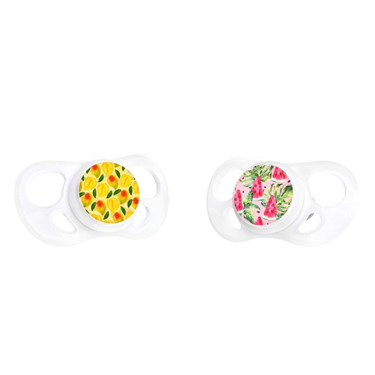 Twistshake 2-Pack 6m+ Pacifiers Watermelon/Mango Watermelon Mango