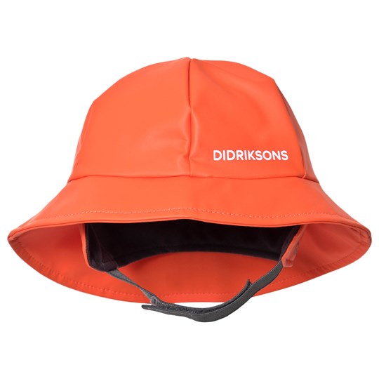 Didriksons Southwest Kids Rain Hat Tile Orange Tile Orange