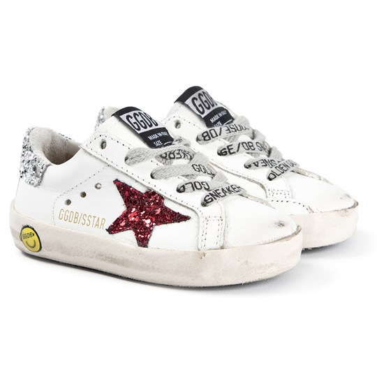 Golden Goose Superstar Glitter Sneakers White WHITE LEATHER- RED GLITTER STAR