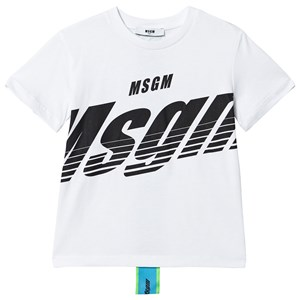 Image of MSGM Speed Logo with Dream Tape Logo on Reverse T-shirt Hvid 10 years (1496548)
