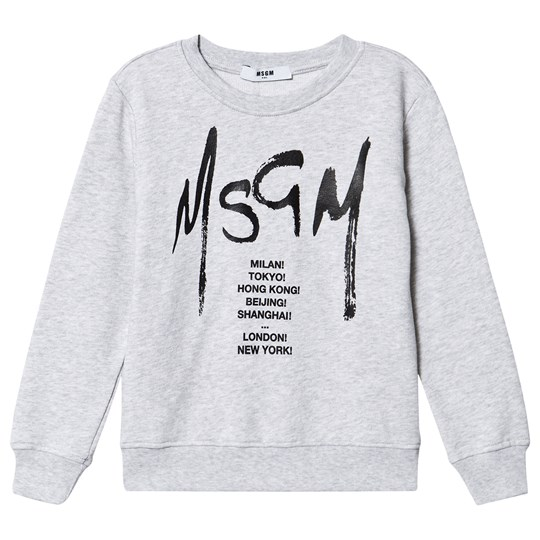 MSGM City List Sweatshirt Gray 101