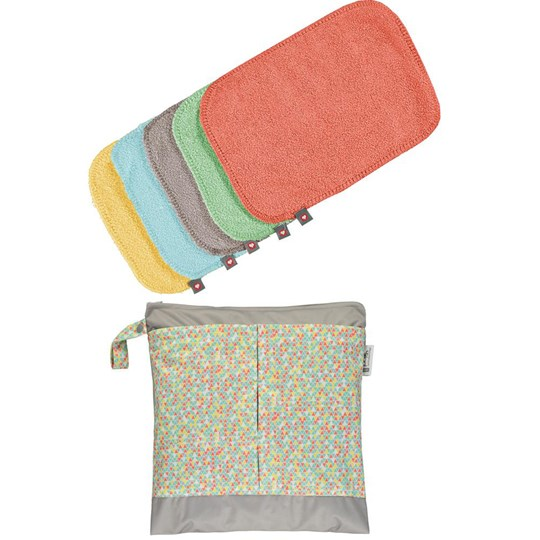Close 10-Pack Pop-in Reusable Bamboo Wipes Pastell Pastell