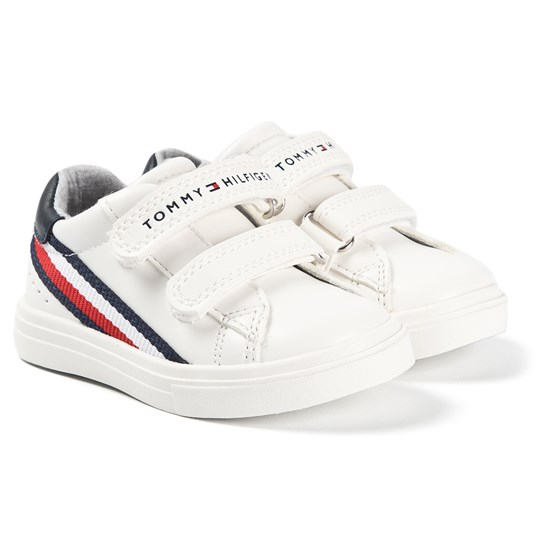 Tommy Hilfiger Branded Velcro Sneakers White X008