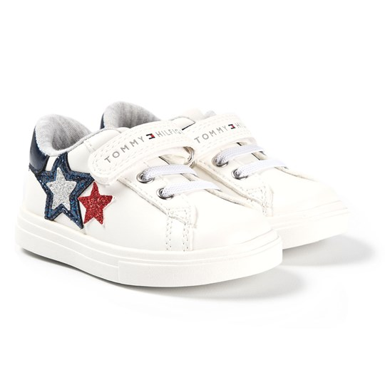 Tommy Hilfiger Low-Cut Lace/Velcro Sneakers White Y003