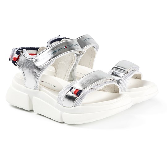 Tommy Hilfiger Velcro Sandals Silver 904
