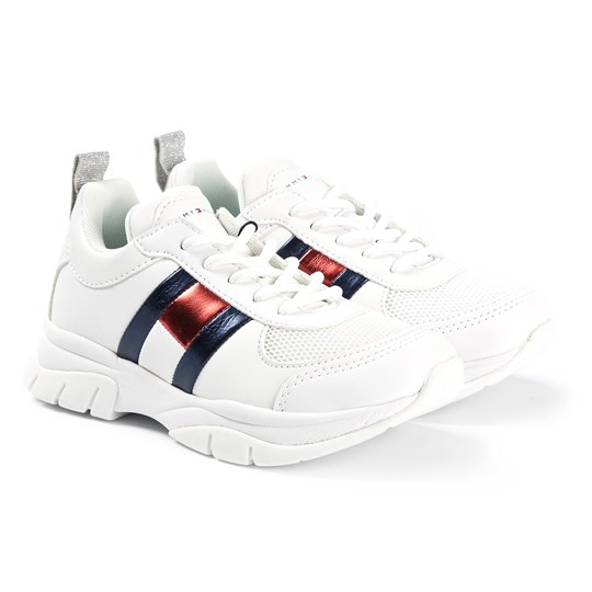 Tommy Hilfiger Metallic Flag Lace Sneakers White 100