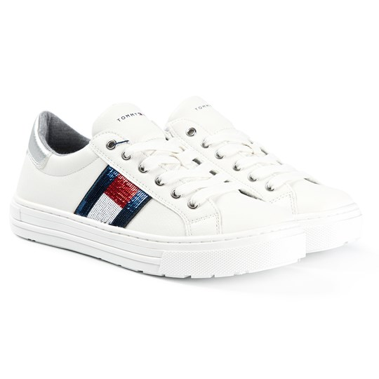 Tommy Hilfiger Flag Logo Sneakers White 100