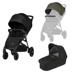 Image of Britax B-Motion 4 Plus Klapvogn Olive Green/Cosmos Black One Size (1617972)