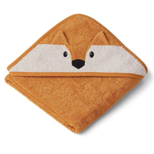 Liewood Albert Hooded Towel Fox/Mustard Mustard