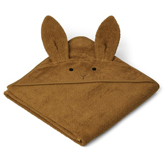 Liewood Augusta Hooded Towel Rabbit/Olive Olive Green