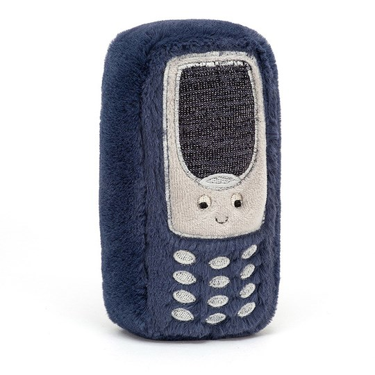 Jellycat Wiggedy Phone Soft Toy Blue Blue