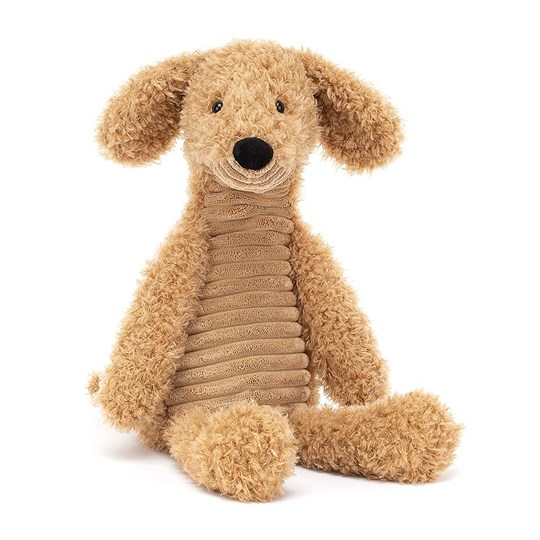 Jellycat Wurly Dog Soft Toy Brown BROWN