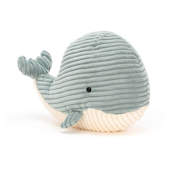 Jellycat Small Cordy Roy Whale Soft Toy Blue Blue