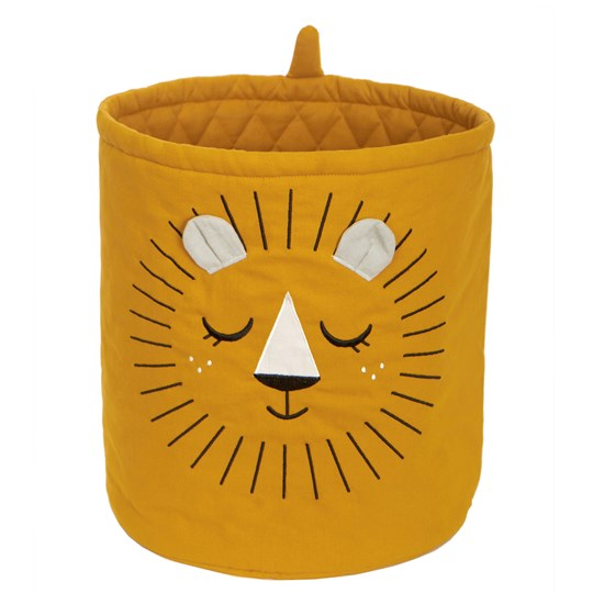 Roommate Lion Storage Basket Yellow Yellow