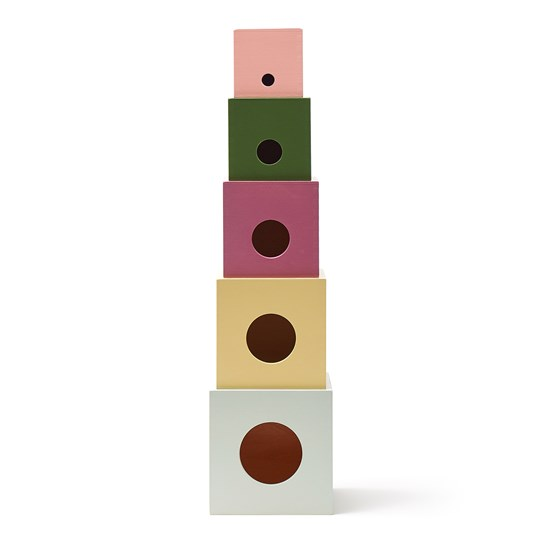 Kids Concept Edvin Stacking Cubes BROWN