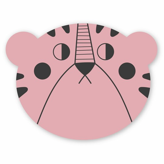Studioloco Mrs Bear Placemat Pink Pink