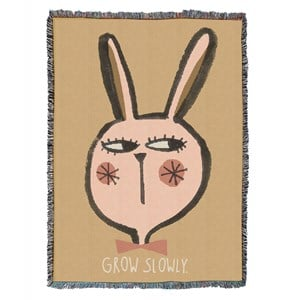 Image of Studioloco 100 x 140 Rabbit Woven Tæppe Beige One Size (1624816)