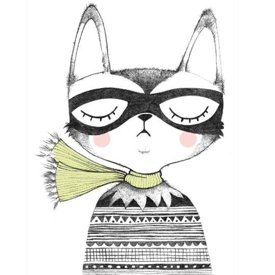 Studioloco XL Captain Cat Wall Sticker Black Black