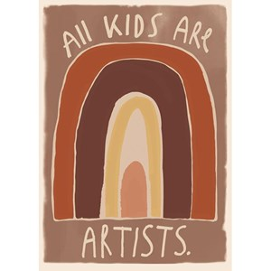 Image of Studioloco Kids Are Artists 50 x 70 Plakat Brun One Size (1624812)