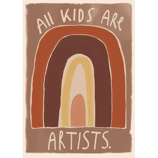 Studioloco Kids Are Artists 50 x 70 Poster Brown BROWN