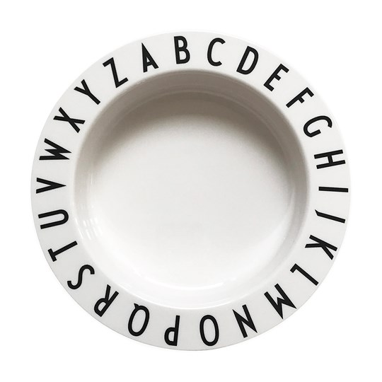 Design Letters Eat & Learn Deep Plate White White